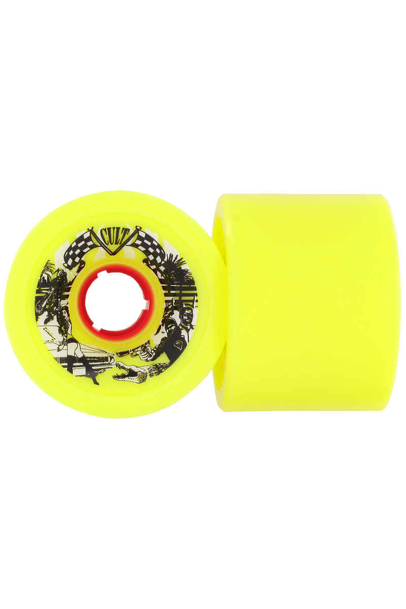 Cult Daredevil 72mm 84.5A Wiel (yellow) 2 Pack