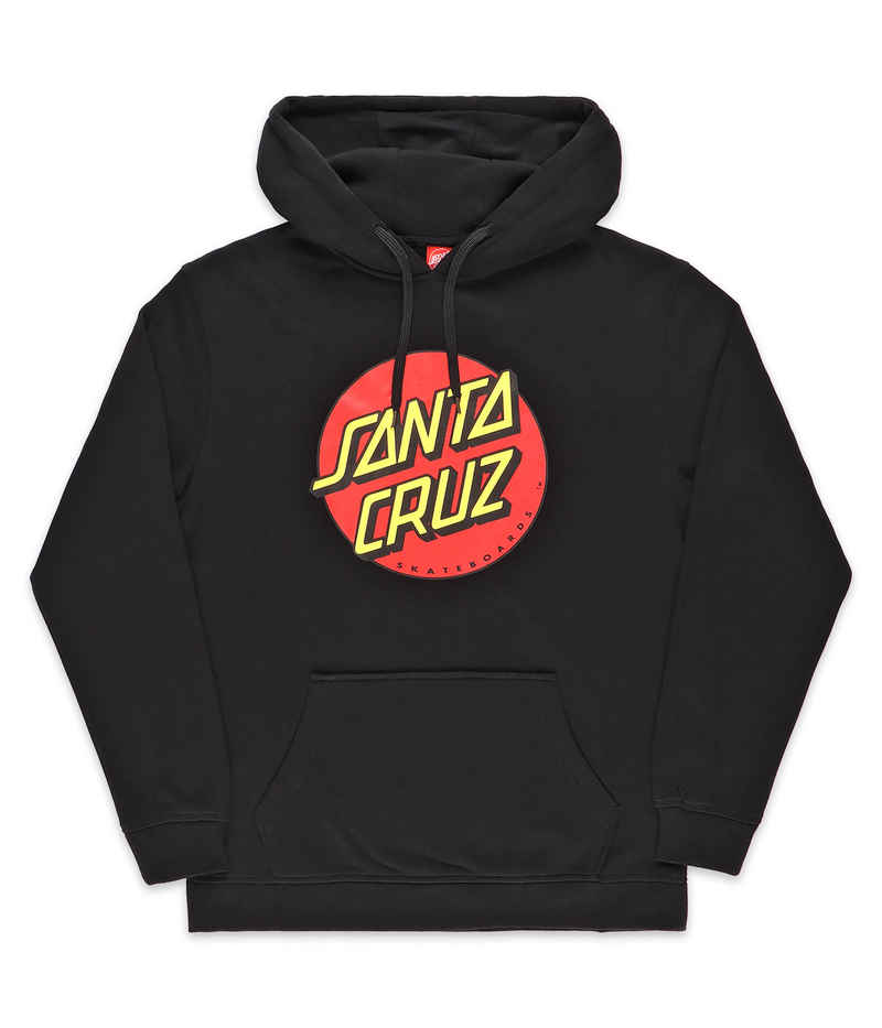 Santa Cruz Classic Dot sweat à capuche (black)