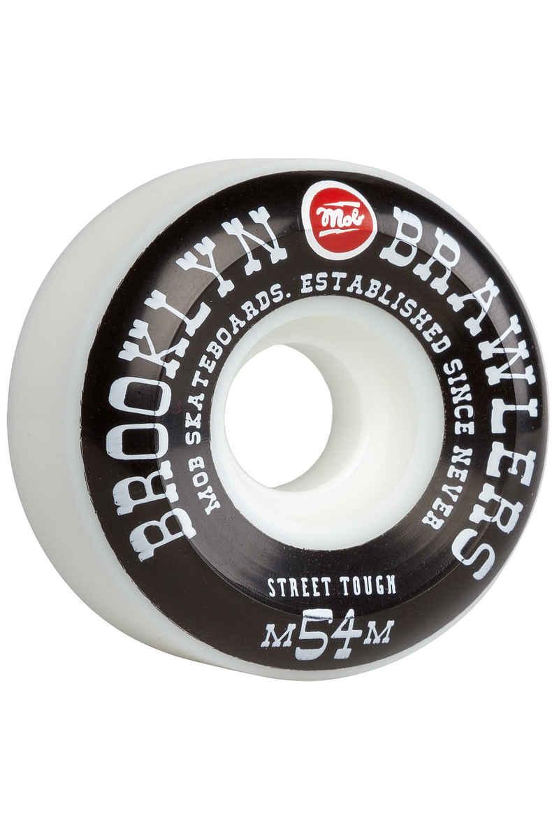 MOB Skateboards Brooklyn Brawlers 54mm Rollen (white black) 4er Pack