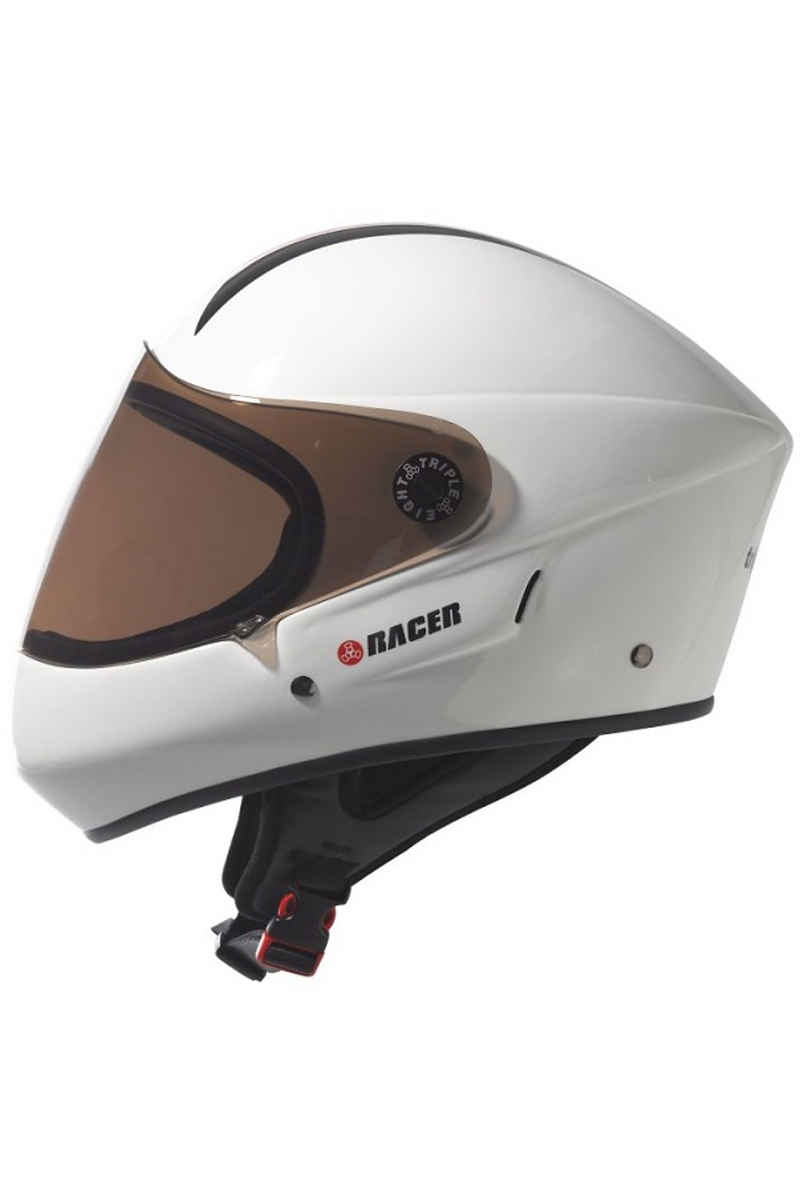 Triple Eight T8 Racer Downhill Casque (white)