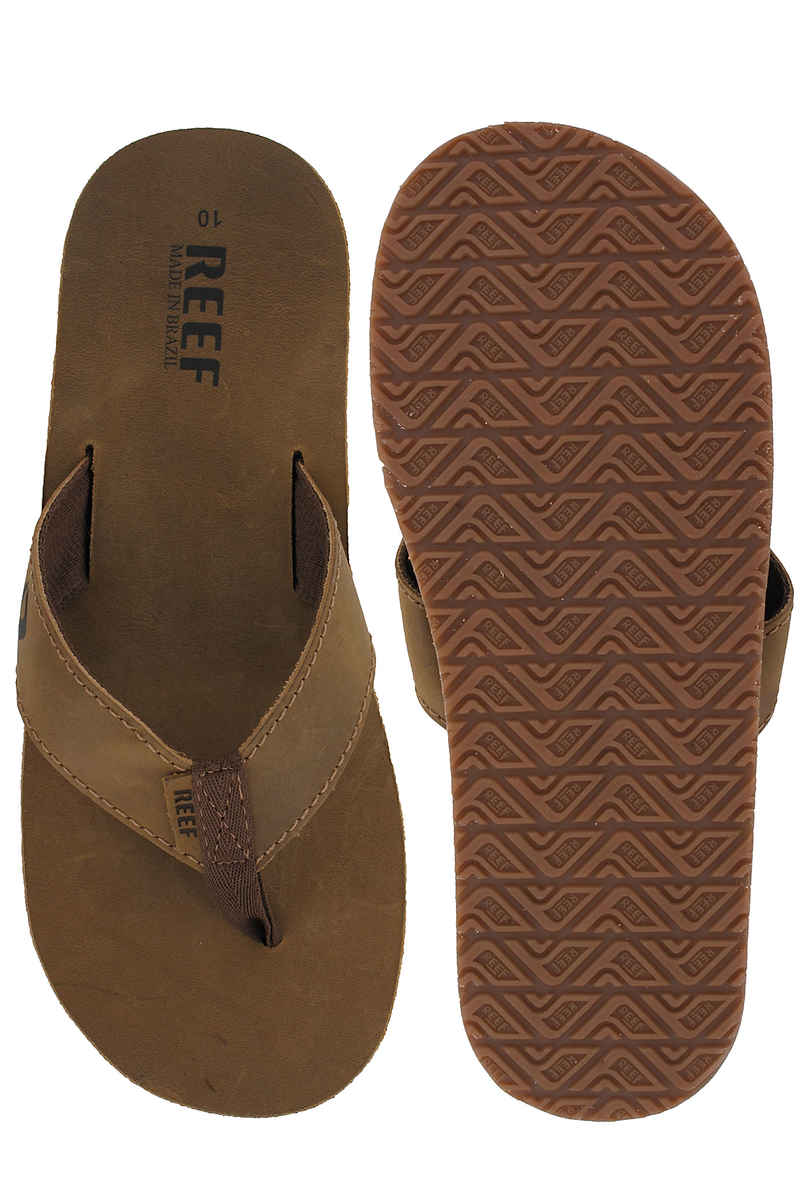 Reef Leather Smoothy Sandale (bronze brown)
