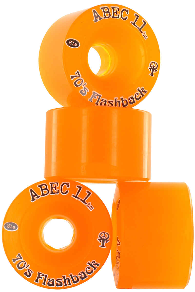 ABEC 11 Flashbacks Rollen (amber) 4er Pack 70mm 81A