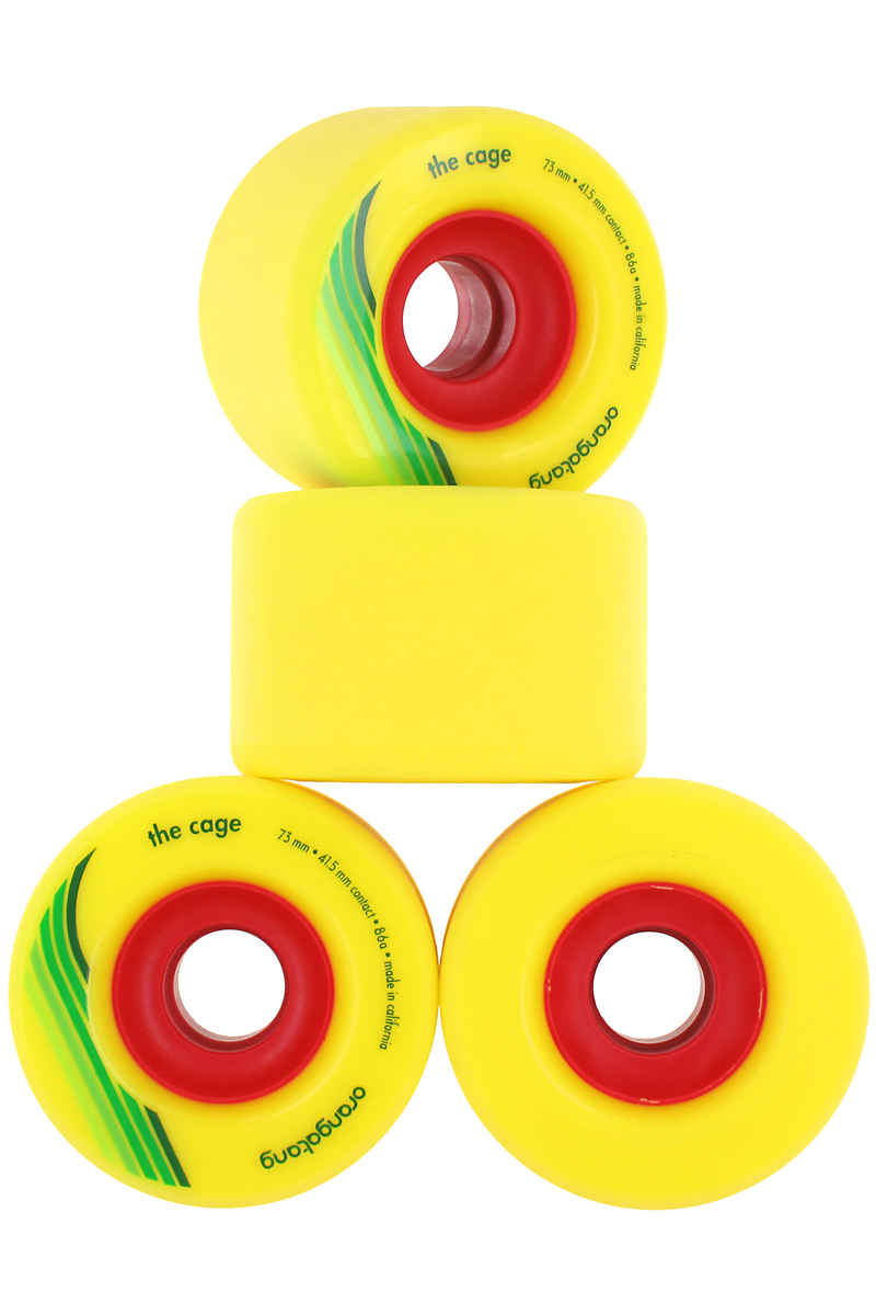 Orangatang The Cage Rollen (yellow) 4er Pack 73mm 86A