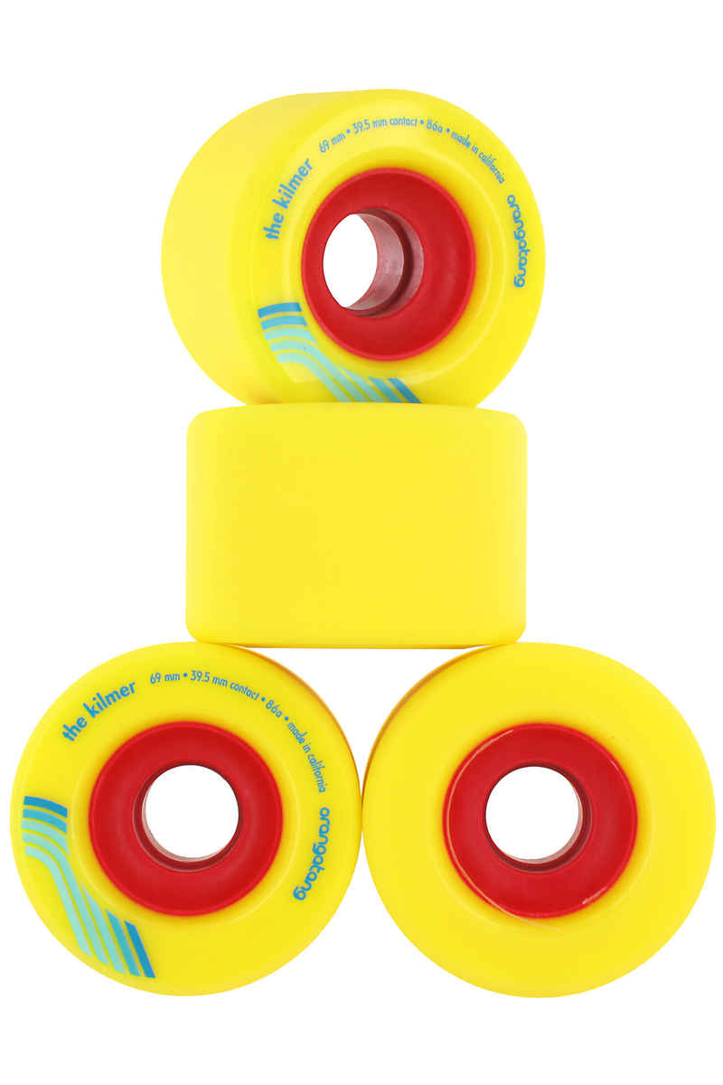 Orangatang The Kilmer Rollen (yellow) 4er Pack 69mm 86A