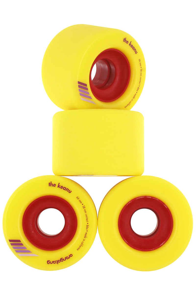 Orangatang The Keanu Wheels (yellow) 4 Pack 66mm 86A