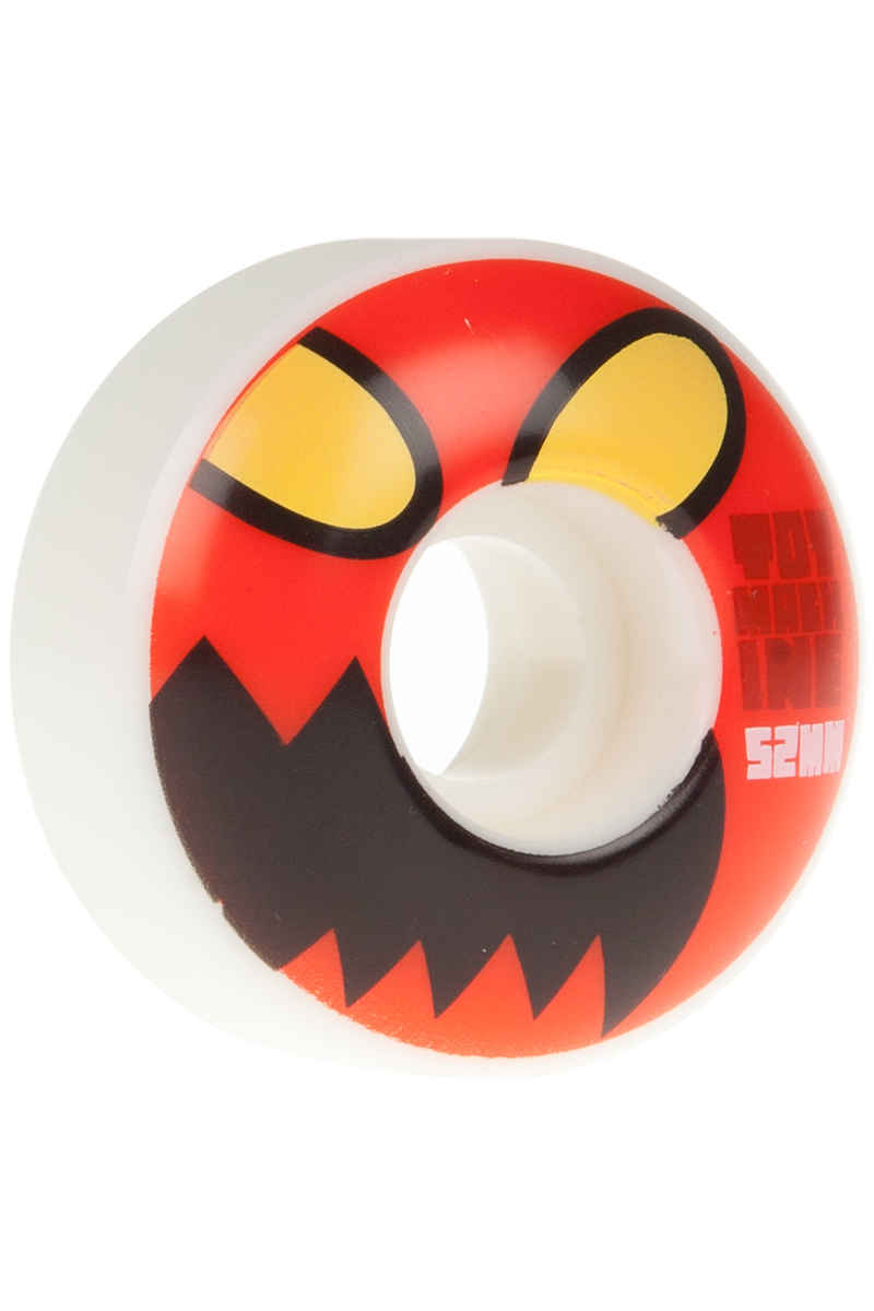 Toy Machine Monster Face 52mm Wheels (white red) 4 Pack