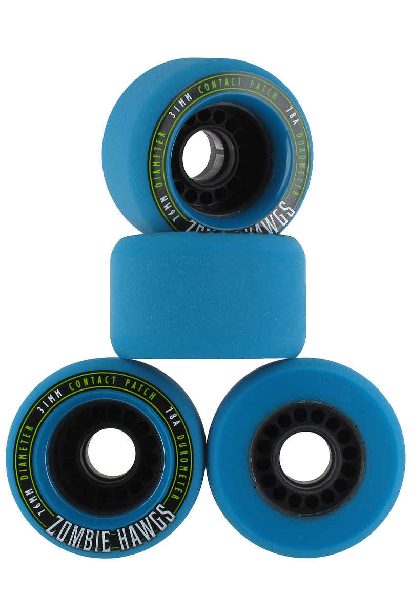 Hawgs Zombies 76mm 78A Roue 2014 (blue) 4 Pack