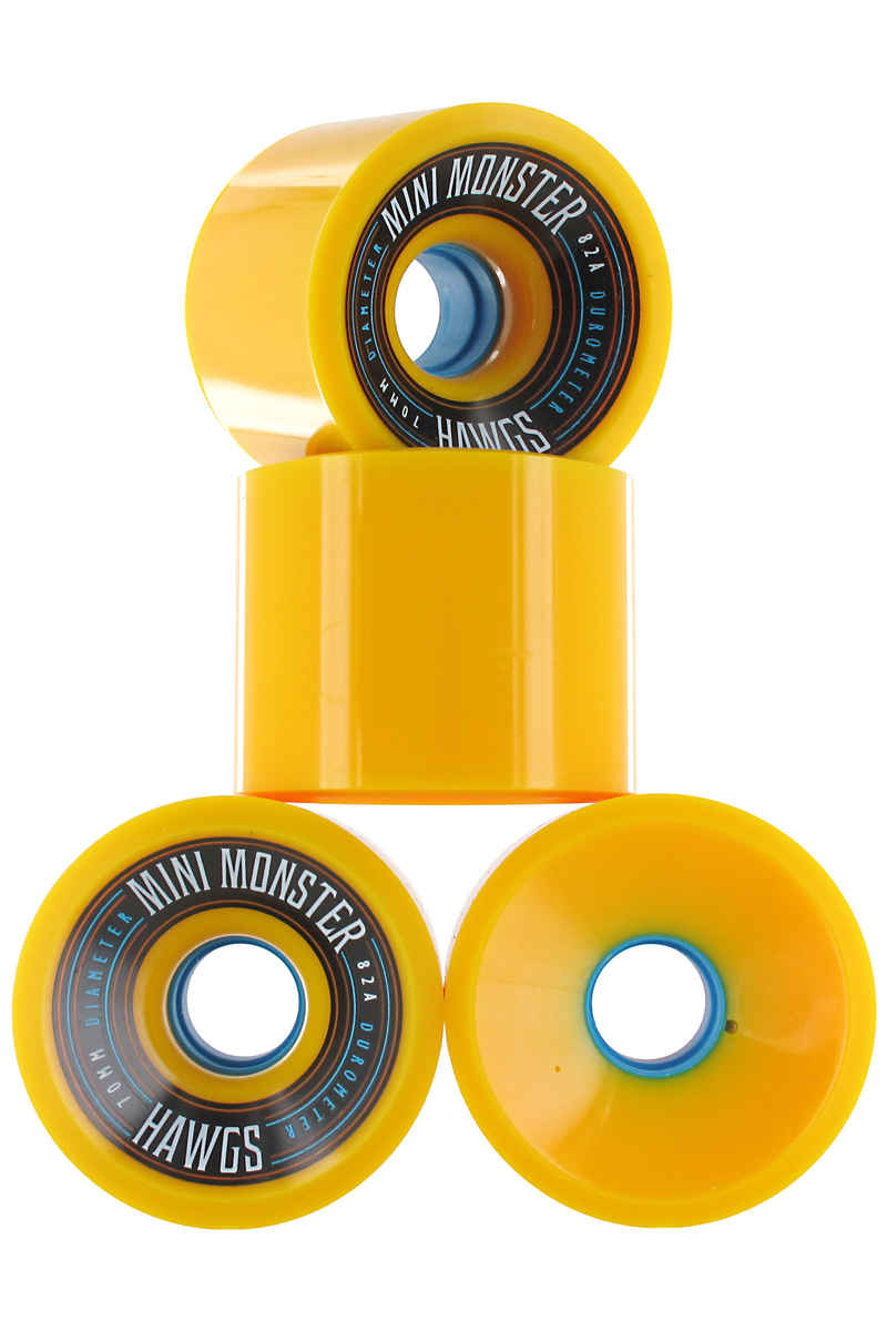 Hawgs Mini Monster 70mm 82A Wheels 2014 (yellow) 4 Pack