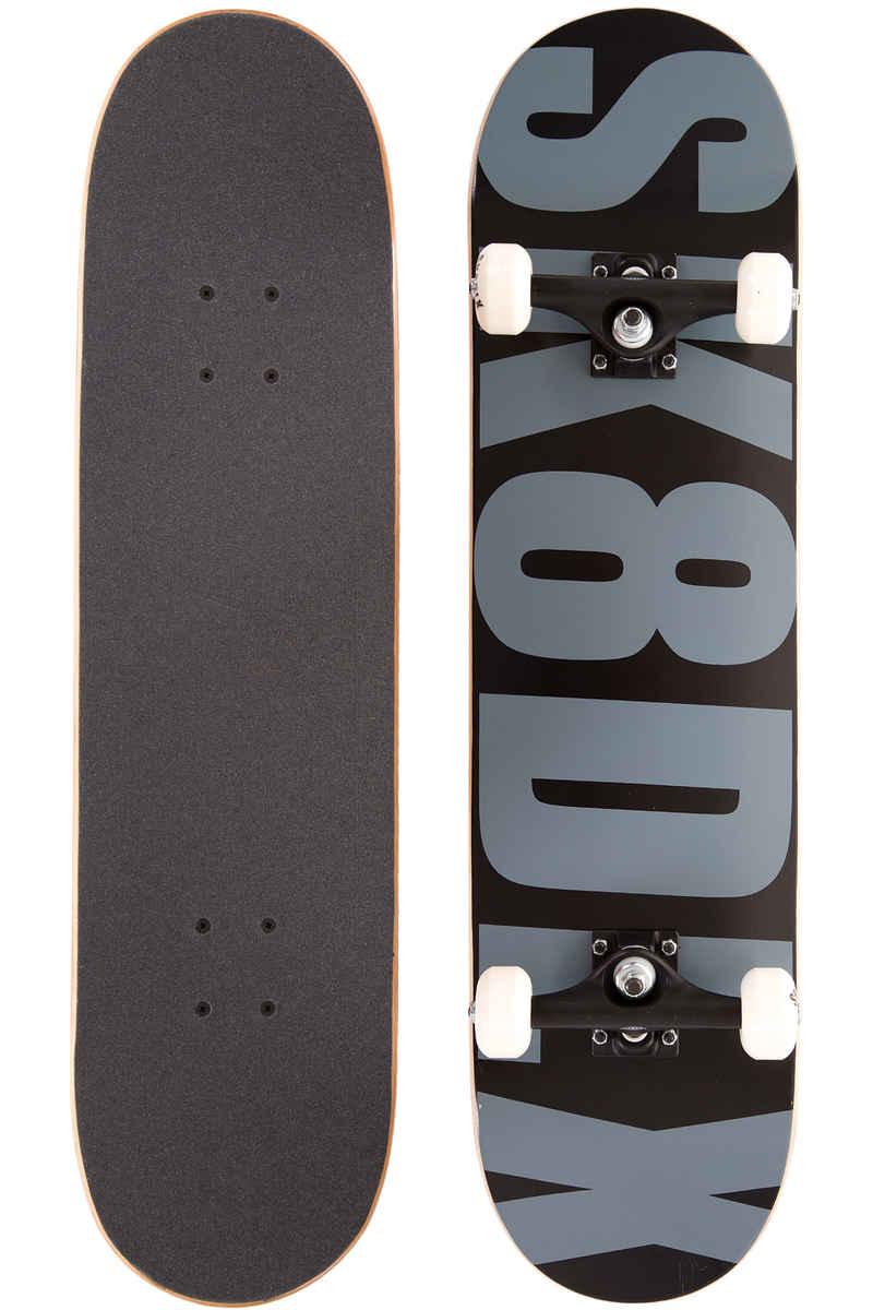 "SK8DLX Letter 8"" Board-Complète (black grey)"
