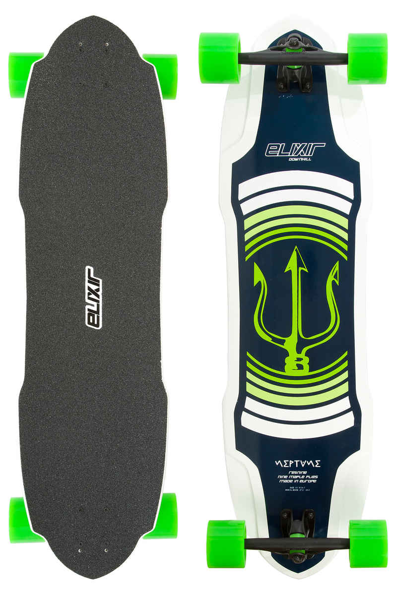 """Long Island Elixir Series - Neptun TM 35.7"""" (90,7cm) Komplett-Longboard (green)"""