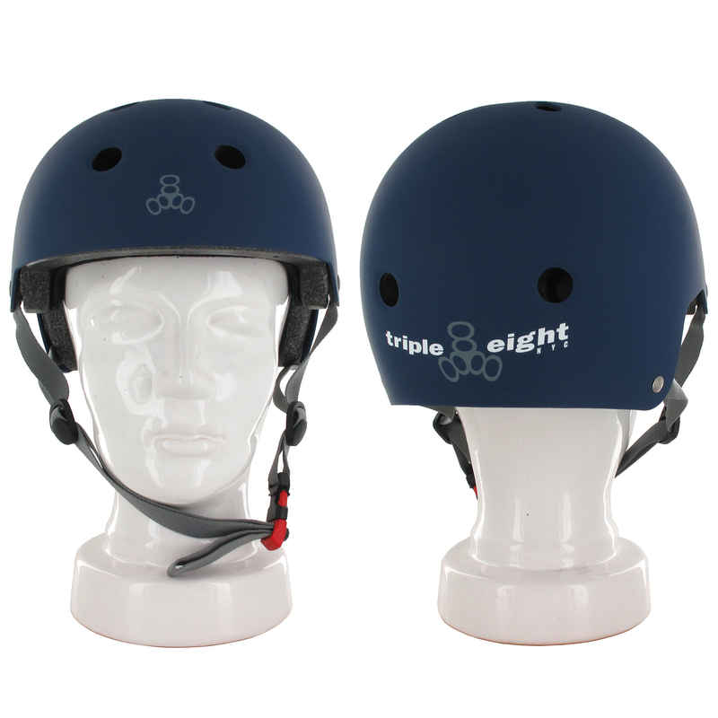 Triple Eight Brainsaver Casque (blue rubber)
