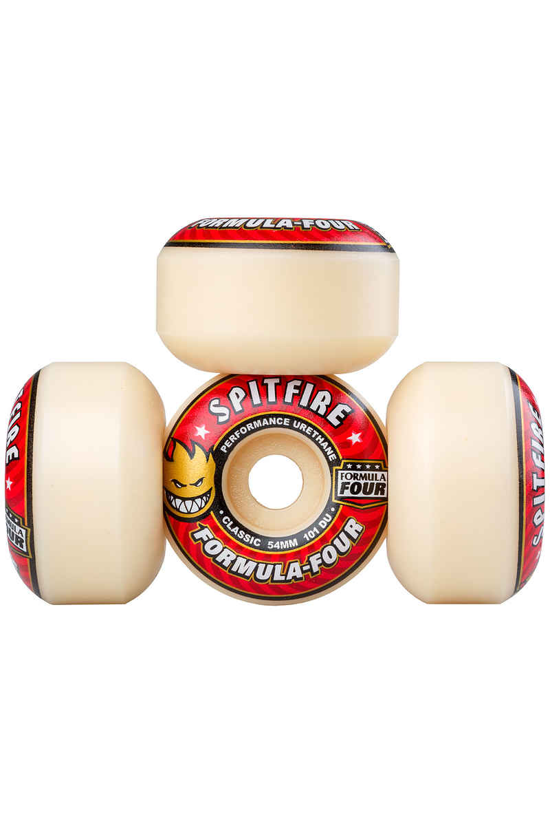 Spitfire Formula Four Classic Wheels (white red) 54mm 101A 4 Pack