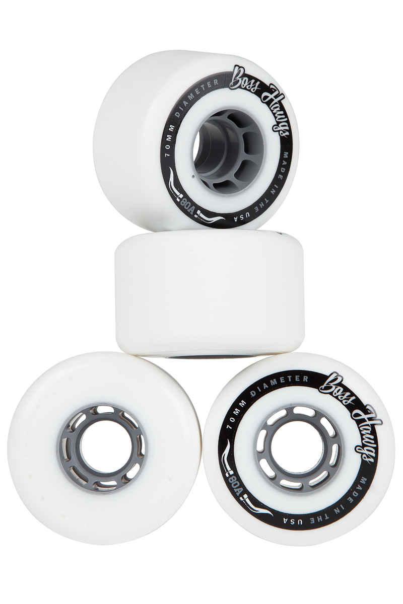 Hawgs Boss 70mm 80A Wheels (white grey) 4 Pack