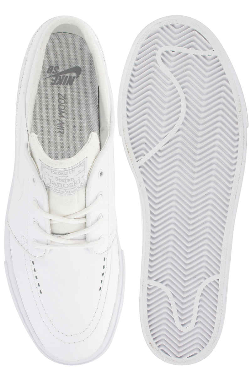 Nike SB Zoom Stefan Janoski Leather Shoes (white white wolf grey ... 8ce77395c42