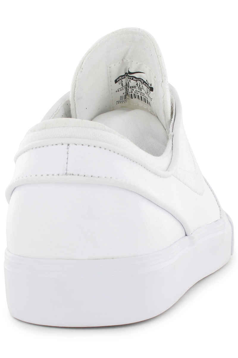 Nike SB Zoom Stefan Janoski Leather Shoes (white white wolf grey)