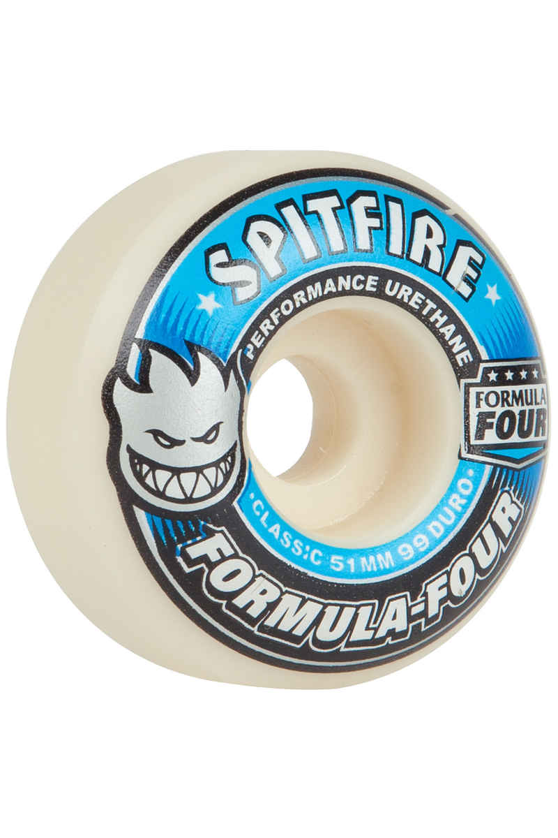 Spitfire Formula Four Classic Wheels (white blue) 51mm 99A 4 Pack