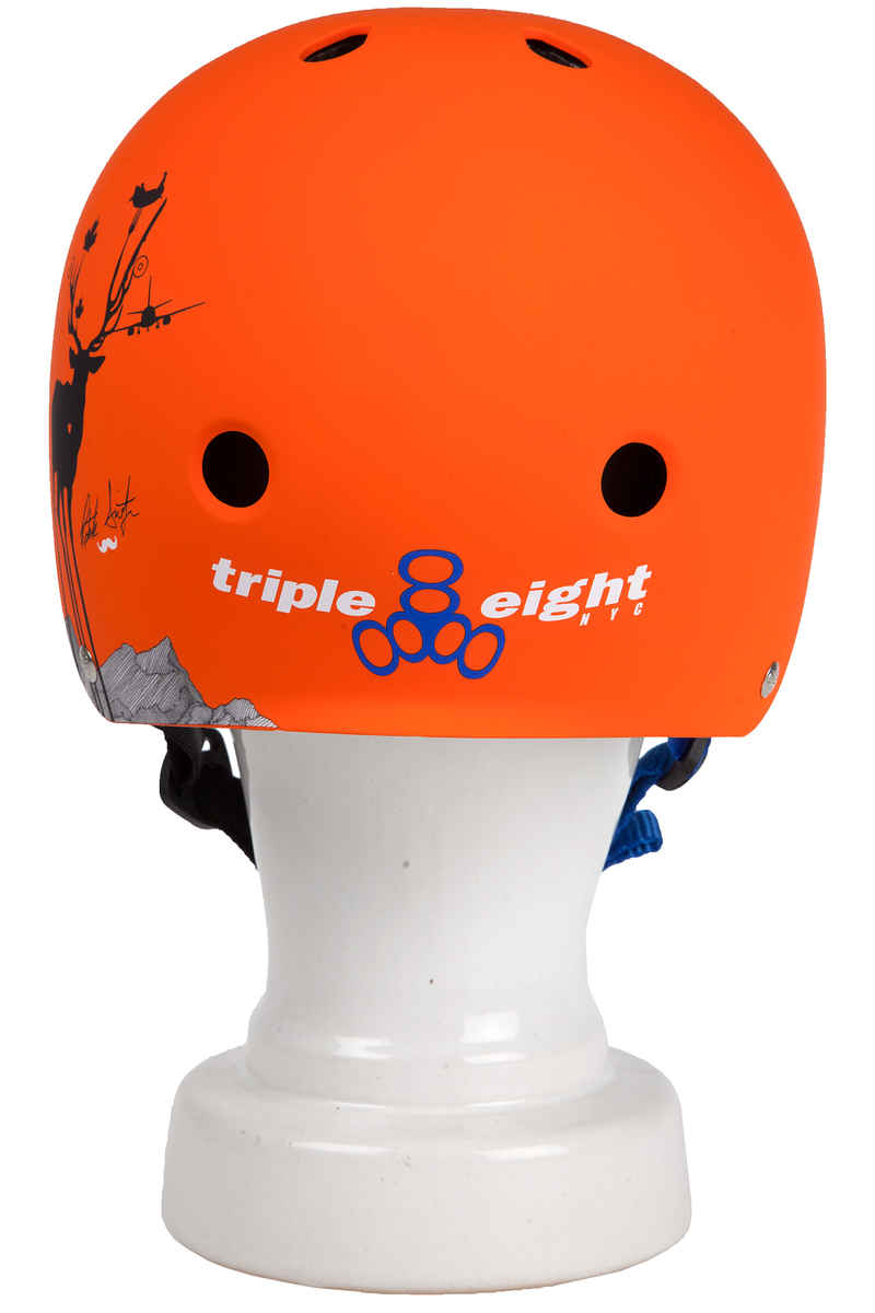 Triple Eight Brainsaver Switzer Promodel Casco (orange rubber)