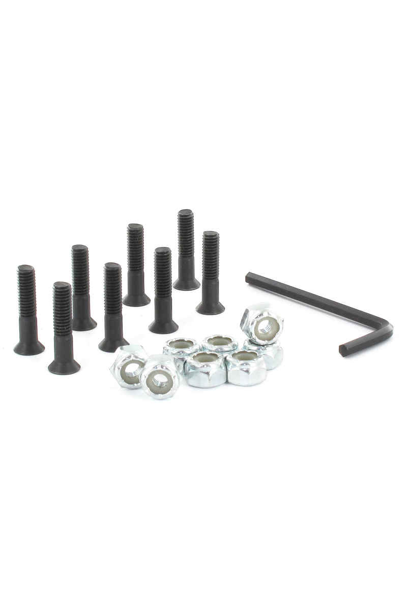 "Chocolate 7/8"" Bolt Pack (black) Flathead (countersunk) allen"