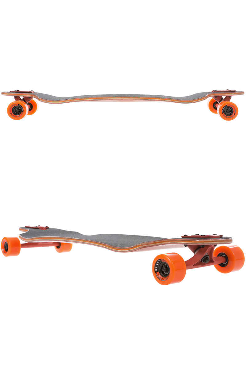 "Globe Sledgehog Fiber-Carve 37.5"" (95cm) Longboard-completo (tart orange)"