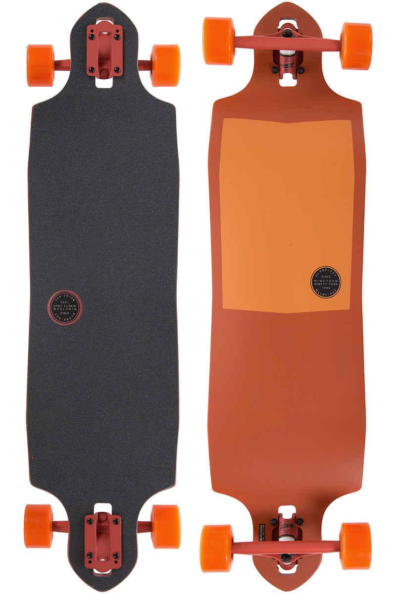 "Globe Sledgehog Fiber-Carve 37.5"" (95cm) Complete-Longboard (tart orange)"