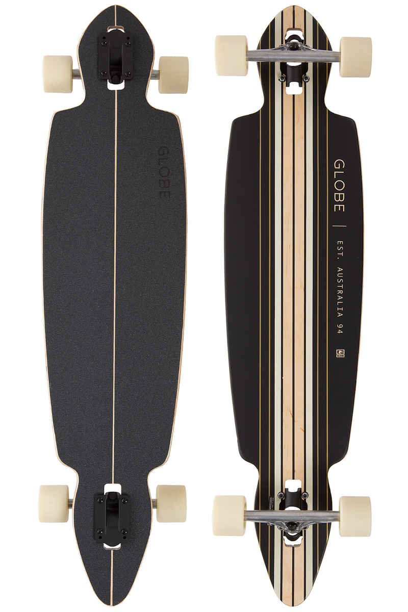 "Globe Pinner Drop-Through 41"" (104cm) Complete-Longboard (black gold)"