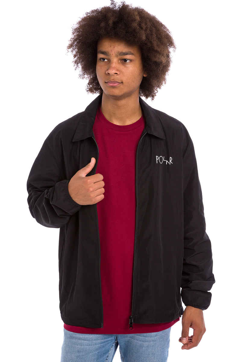 Polar Skateboards Coach Jacket (black)