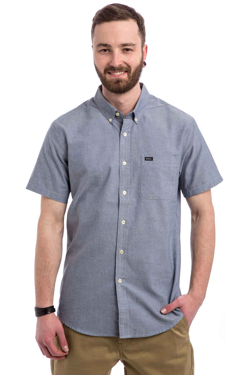 RVCA That'll Do Oxford Camicia a maniche corte (distant blue)