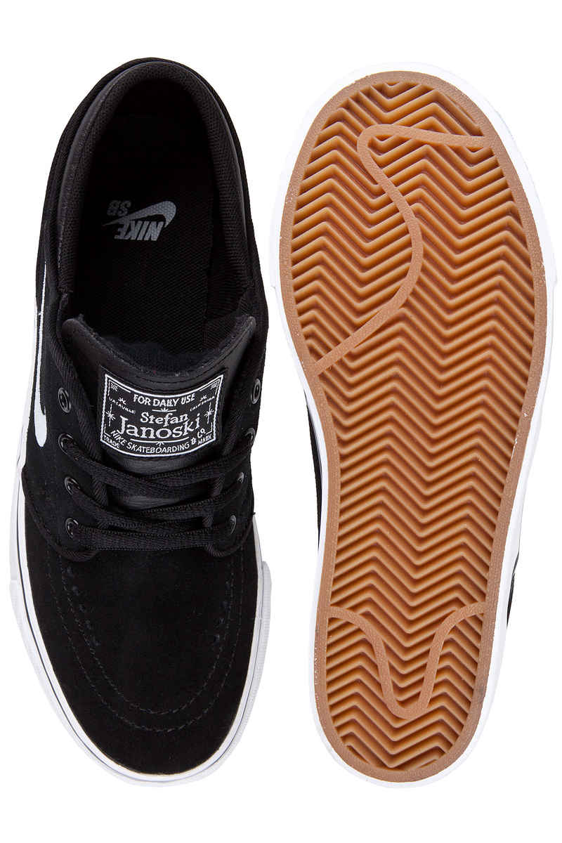 Nike SB Stefan Janoski Zapatilla kids (black white gum medium brown)