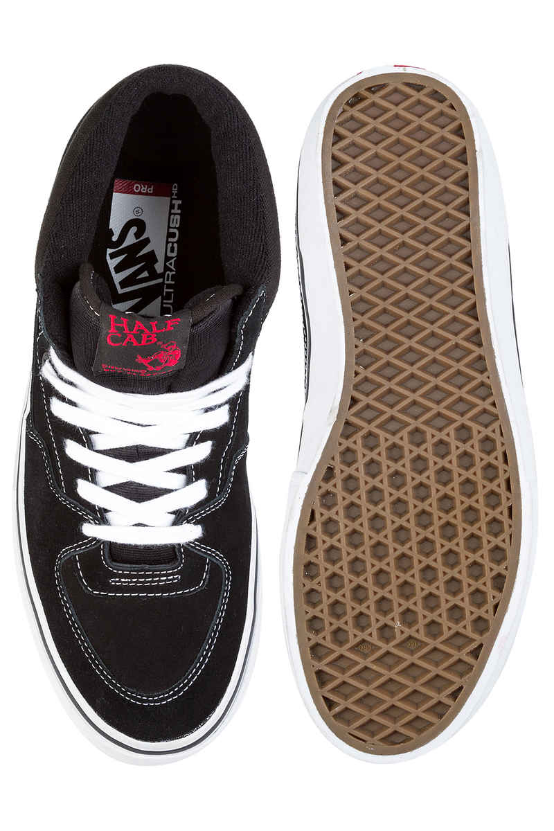 Vans Half Cab Pro Suede Zapatilla (black white red)