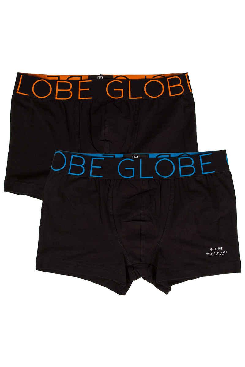 Globe Lindros 2 Boxershorts (black black) 2er Pack