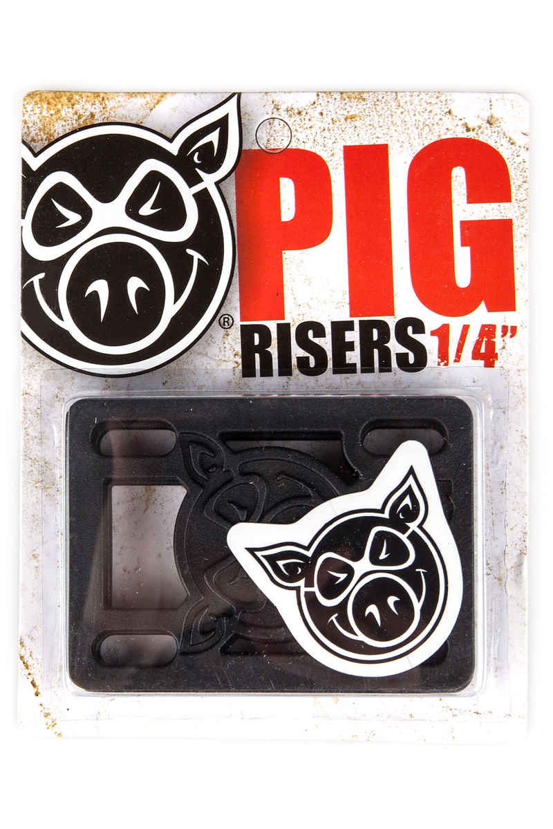 "Pig Piles 1/4"" Riser Pads (black) 2 Pack"