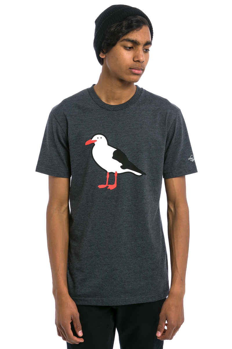 Cleptomanicx Gull T-Shirt (heather black)