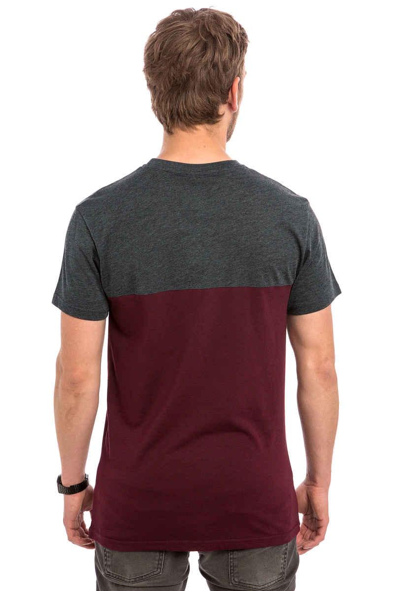 Iriedaily Block Pocket T-Shirt (anthracite red)