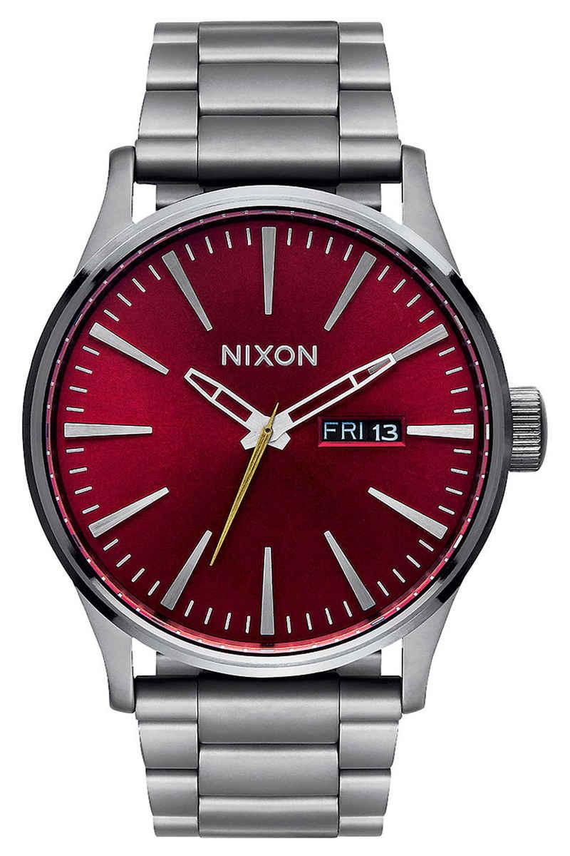 Nixon The Sentry SS Watch (gunmetal deep burgundy)
