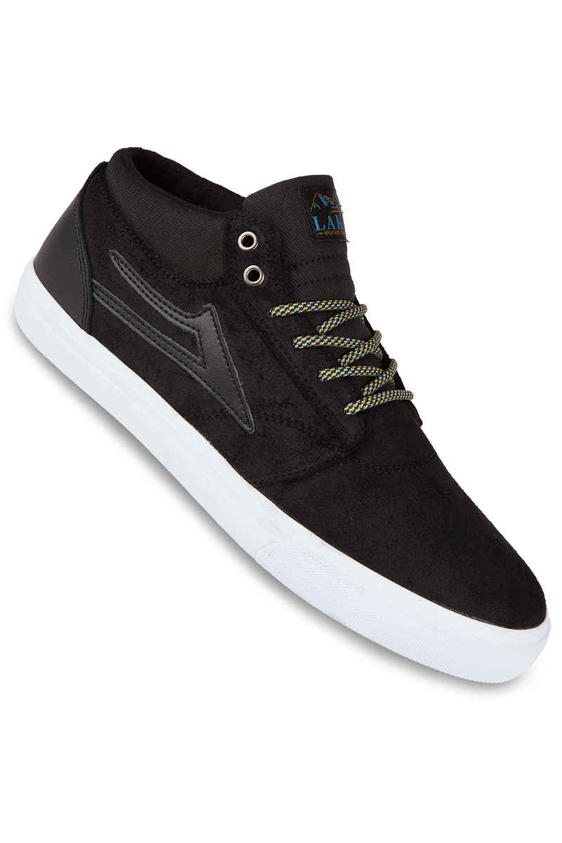 Lakai Griffin Mid AW Suede Shoe (black oiled)