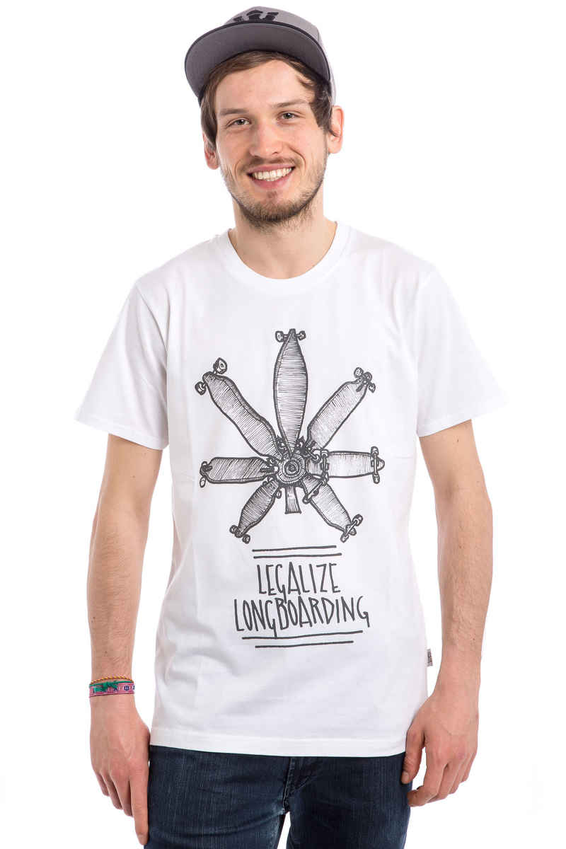 Legalize Longboarding Legalize It T-Shirt (white black)