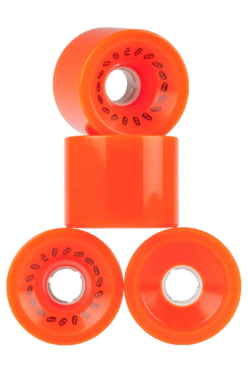 Olson&Hekmati Grip 70mm 76A Wiel (orange) 4 Pack