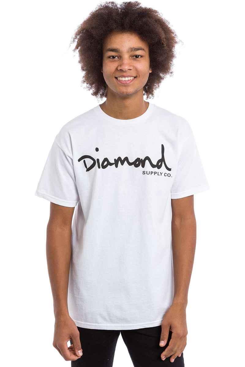 Diamond OG Script T-Shirt (white)