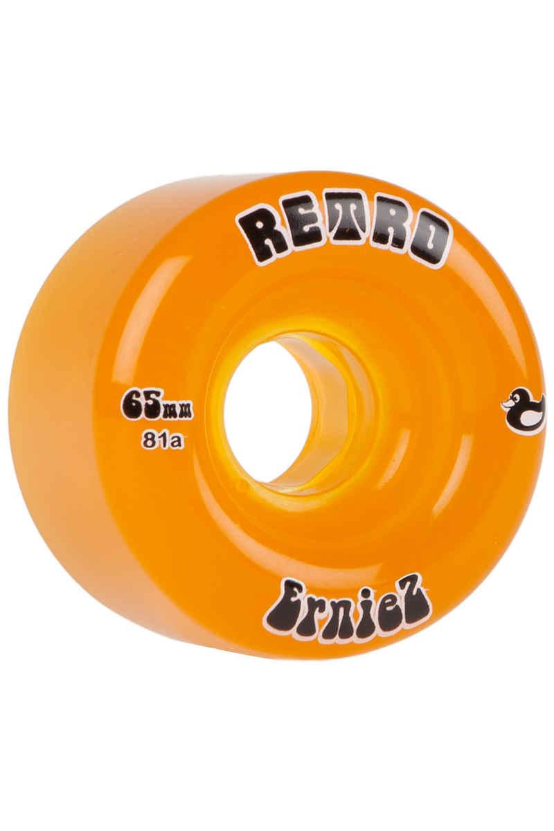 ABEC 11 Retro ErnieZ 65mm 81A Rollen (orange) 4er Pack