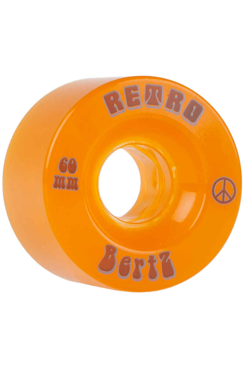 Retro BertZ 60mm 81A Rollen (orange) 4er Pack
