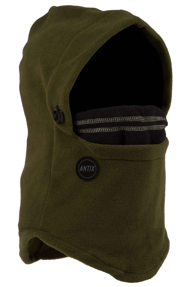 Antix Fleece Hood Neckwarmer (olive black)