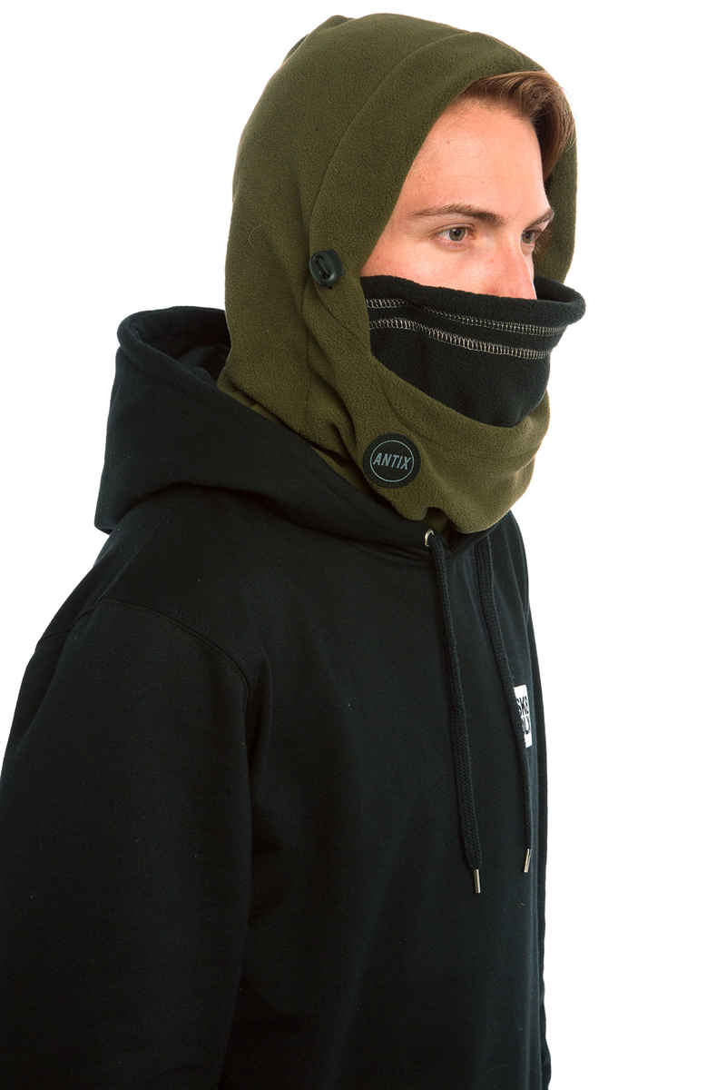 Antix Fleece Hood Sjaal (olive black)