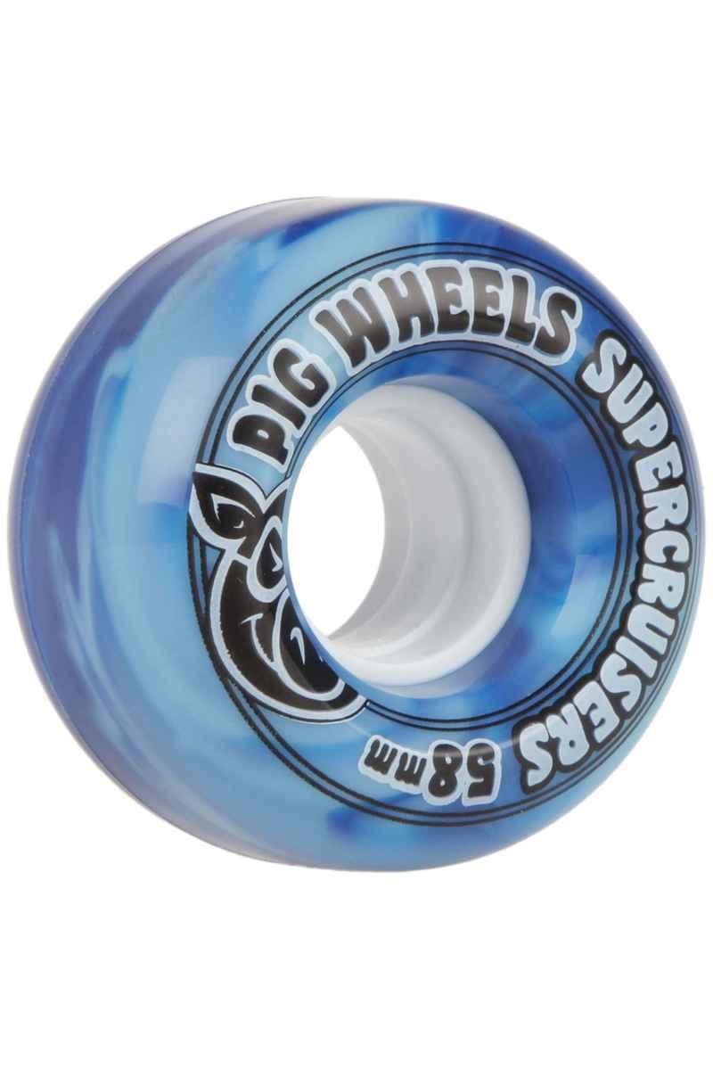 Pig Supercruiser Swirl 58mm Wheels (blue) 4 Pack
