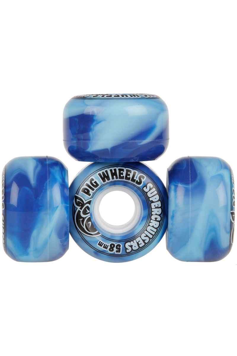 Pig Supercruiser Swirl 58mm Wiel (blue) 4 Pack