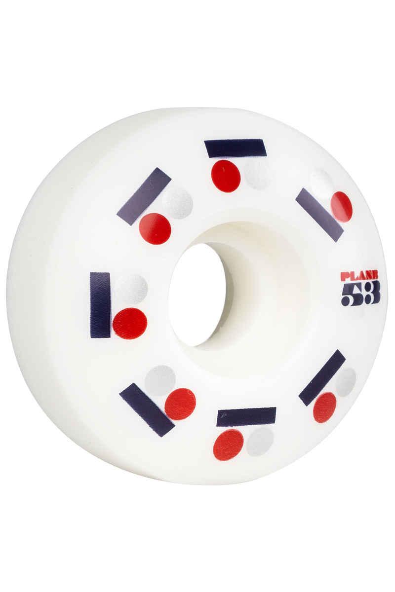 Plan B Team Iconic 53mm Wheels (white) 4 Pack
