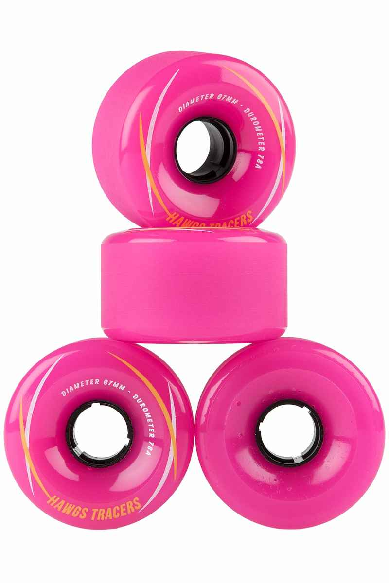 Hawgs Tracer 67mm 78A Roue (pink) 4 Pack