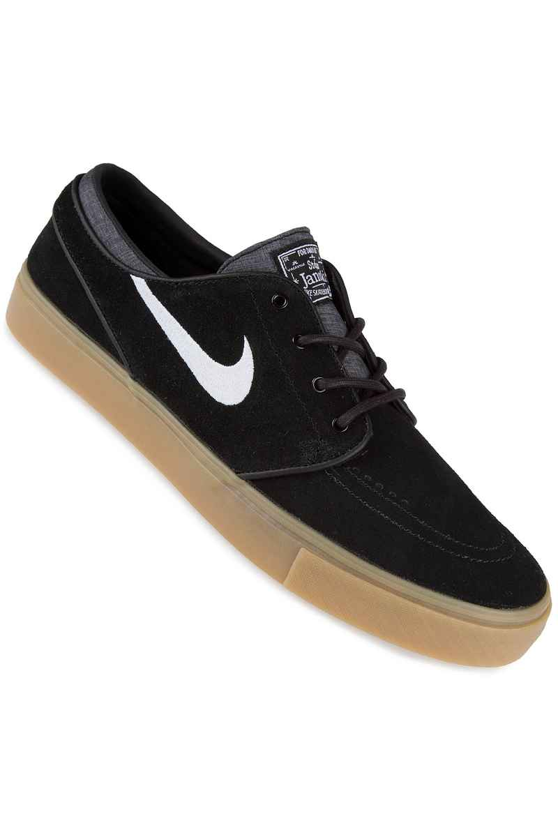 Nike SB Zoom Stefan Janoski Shoes (black white gum light brown)