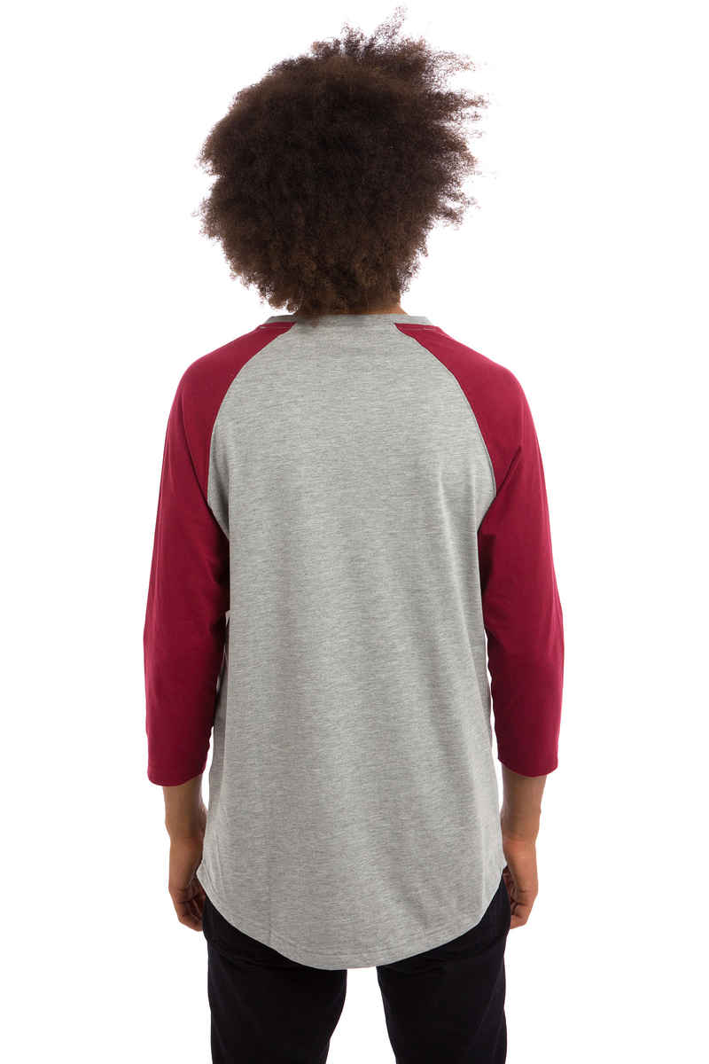 Anuell Strike 3/4 Longues Manches (heather grey burgundy)