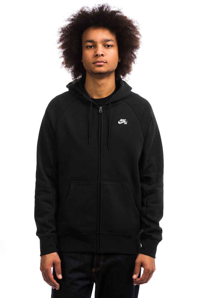 Nike SB Icon Zip-Sweatshirt avec capuchon (black white)