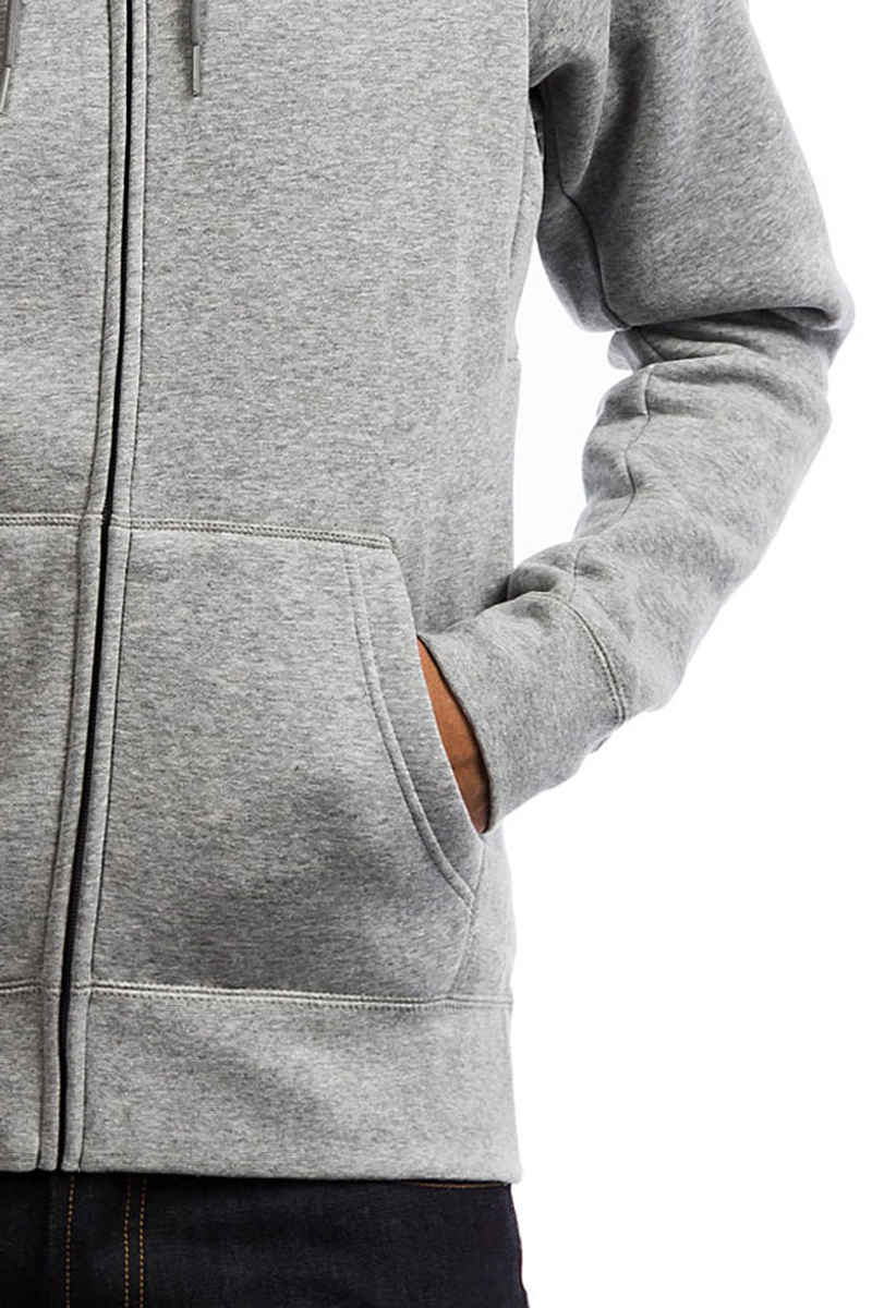 Nike SB Icon Zip-Sweatshirt avec capuchon (dark grey heather)